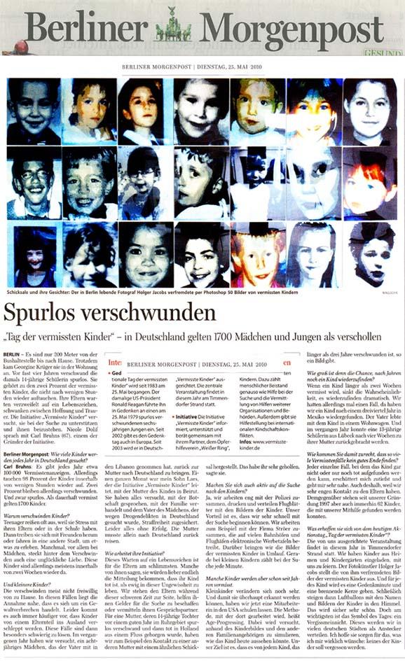 Berliner Morgenpost, Vermisste Kinder, Holger Jacobs