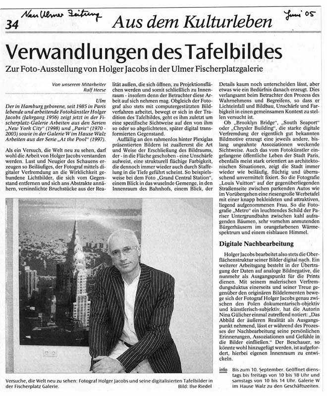 Ulm, Fischerplatz Galerie, Holger Jacobs